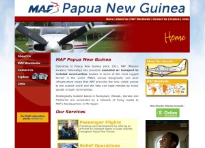 MAF Papua New Guinea website by Kaimanui