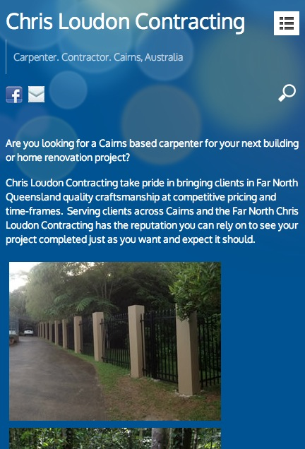 Chrisloudoncontracting.com website Cairns by Kaimanui web design